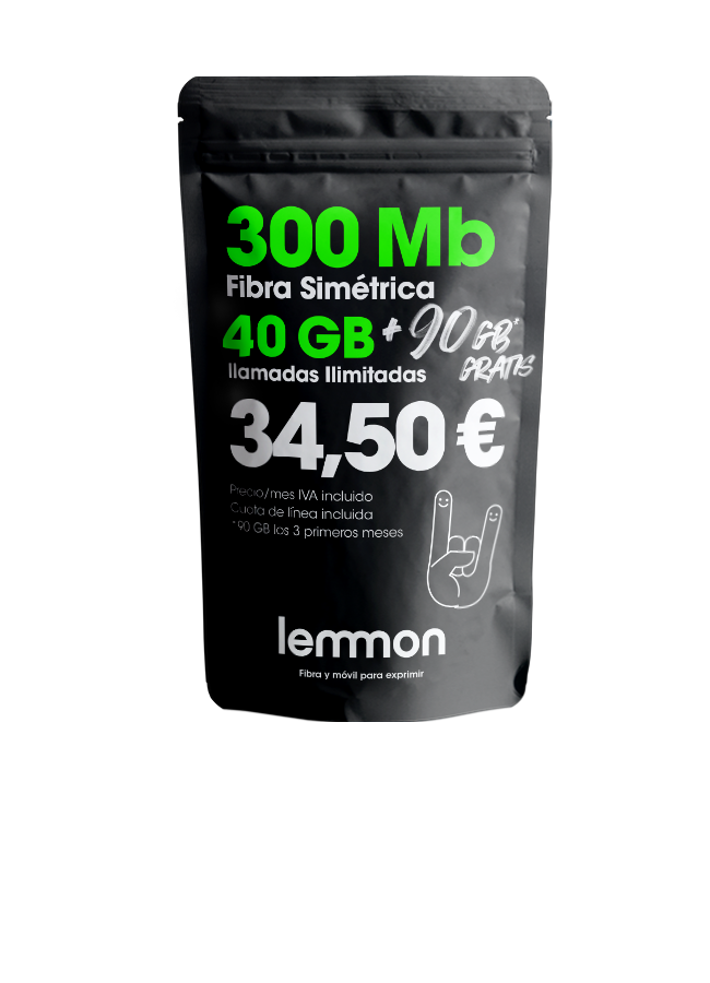 Lemmon tarifa fibra y móvil